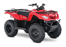 The 2017 Suzuki KingQuad 400FSi features a five-speed manual-shift transmission and semi-automatic clutch for those who favor a bit sportier performance. It cranks out an impressive amount of torque and has an incredibly wide powerband for exceptional performance on the trail or on the job. A high-performance iridium spark plug and refined Pulsed-secondary AIR-injection (PAIR) system help provide outstanding fuel efficiency, clean emissions, and great performance.